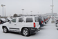 /images/133/2007-01-12-go-xterras01.jpg - #03380: white Nissan Xterra and others at GO Nissan on Arapahoe Rd … Jan 2007 -- Go Nissan, Englewood, Colorado