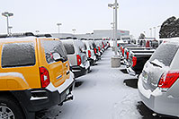 /images/133/2007-01-12-go-xterras07.jpg - #03386: yellow Nissan Xterra and others at GO Nissan on Arapahoe Rd … Jan 2007 -- Go Nissan, Englewood, Colorado