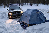 /images/133/2007-01-28-elbert-tent.jpg - #03440: camping by Twin Lakes … Jan 2007 -- Mt Elbert, Twin Lakes, Colorado