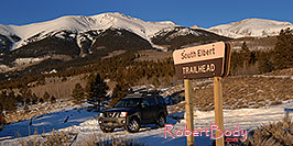 /images/133/2007-01-28-elbert-xterra1-pano.jpg - #03447: images of Mt Elbert … Jan 2007 -- Mt Elbert, Twin Lakes, Colorado