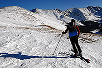 /images/133/2007-01-28-love-view10.jpg - #03452: skier walking up east face of Loveland Pass … Jan 2007 -- Loveland Pass, Colorado