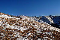 /images/133/2007-01-28-love-view11.jpg - #03453: skier resting on east face of Loveland Pass … Jan 2007 -- Loveland Pass, Colorado