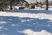 /images/133/2007-02-14-lone-lib-parkdhl.jpg - #03523: yellow DHL truck on delivery by Cook Creek Park next to Lone Tree library … Feb 2007 -- Lone Tree, Colorado