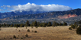 /images/133/2007-02-26-cos-view02.jpg - #03558: view of Colorado Springs with Pikes Peak in the clouds … Feb 2007 -- Colorado Springs, Colorado