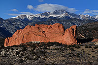 /images/133/2007-02-26-gods-above-right.jpg - #03563: view of Garden of the Gods with Pikes Peak in the clouds … Feb 2007 -- Garden of the Gods, Colorado Springs, Colorado