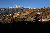 /images/133/2007-02-26-ramp-houses02.jpg - #03588: view of Pikes Peak from Rampart Range Road  … Feb 2007 -- Rampart Range Rd, Colorado Springs, Colorado