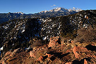 /images/133/2007-02-26-ramp-view01.jpg - #03597: view of Pikes Peak … along Rampart Range Road  … Feb 2007 -- Rampart Range Rd, Colorado Springs, Colorado