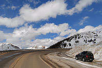 /images/133/2007-04-01-loveland-xterra.jpg - #03705: Xterra along the road up to Loveland Pass … April 2007 -- Loveland Pass, Colorado