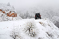 /images/133/2007-04-08-rampart-snow-x05.jpg - #03761: Xterra along snowy Rampart Range Road … April 2007 -- Rampart Range Rd, Colorado Springs, Colorado