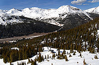 /images/133/2007-04-28-love-i70-view01.jpg - #03808: view of I-70, east of Eisenhower Tunnel - view down from Loveland Pass … April 2007 -- Loveland Pass, Colorado