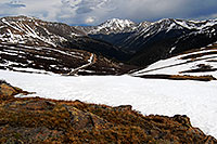 /images/133/2007-06-03-indep-road04.jpg - #03889: view from above Independence Pass with La Plata Peak at 14,336 ft in the center … June 2007 -- La Plata Peak, Independence Pass, Colorado