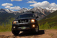 /images/133/2007-06-09-elbert-xterra01.jpg - #03916: Xterra near Mt Elbert with mountains in the background … June 2007 -- Twin Lakes, Colorado