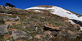 /images/133/2007-06-17-evans-road-xte-pano.jpg - #04004: view from 13,500 feet of a road up Mt Evans … June 2007 -- Mount Evans Road, Mt Evans, Colorado