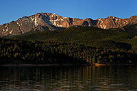 /images/133/2007-06-22-pikes-lake-morn.jpg - #04037: Pikes Peak in the morning … June 2007 -- Crystal Reservoir, Pikes Peak, Colorado