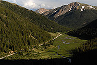 /images/133/2007-06-24-indep-twin-road2.jpg - #04090: Independence Pass road from Twin Lakes side …  June 2007 -- Independence Pass, Colorado