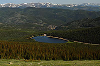 /images/133/2007-06-30-evans-echo-abov2.jpg - #04137: View of Echo Lake at 10,600 ft from Mt Evans Road at 12,000 ft … June 2007 -- Echo Lake, Mt Evans, Colorado