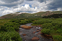 /images/133/2007-07-07-biers-river01.jpg - #04206: Scott Gomer Creek by Mt Bierstadt … Mt Spalding (13,842 ft) on the right … July 2007 -- Scott Gomer Creek, Guanella Pass, Colorado