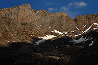 /images/133/2007-07-08-biers-saw-clos3.jpg - #04231: The Sawtooth with highest peak at 13,780 ft … July 2007 -- The Sawtooth, Mt Bierstadt, Colorado