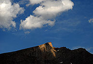 /images/133/2007-07-08-biers-saw-dark.jpg - #04233: The Sawtooth peak at 13,780 ft … July 2007 -- The Sawtooth, Mt Bierstadt, Colorado