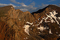 /images/133/2007-07-08-biers-saw-eve1.jpg - #04234: The Sawtooth (13,780 ft, left) and Mt Bierstadt (14,060 ft, right) … July 2007 -- The Sawtooth, Mt Bierstadt, Colorado