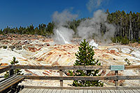 /images/133/2007-07-21-y-kepler-steam03.jpg - #04312: Steamboat Geyser in Kepler Cascades … July 2007 -- Kepler Cascades, Yellowstone, Wyoming