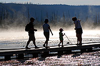 /images/133/2007-07-21-y-mid-walk-peopl.jpg - #04329: People near Grand Prismatic Spring … July 2007 -- Lower Geyser Basin, Yellowstone, Wyoming