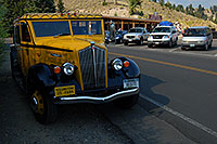 /images/133/2007-07-22-y-tower-yello-bus.jpg - #04360: Yellow Yellowstone Tour Bus … July 2007 -- Tower Fall, Yellowstone, Wyoming