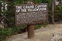 /images/133/2007-07-23-y-grand-sign-cany.jpg - #04376: The Grand  Canyon of the Yellowstone - 800 to 1,200 ft deep and 24 miles long  … July 2007 -- Lookout Point, Yellowstone, Wyoming