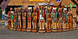 /images/133/2007-07-24-jackson-indians04.jpg - #04353: Carved Indians in Jackson … July 2007 -- Jackson, Wyoming