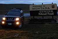 /images/133/2007-07-27-mt-sign-montana.jpg - #04483: Welcome to Montana - Custer National Forest … Images along Beartooth Pass Highway … July 2007 -- Beartooth Pass(MT), Montana