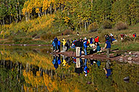 /images/133/2007-09-25-mar-people-4338.jpg - #04750: Maroon Bells in the morning … Sept 2007 -- Maroon Lake, Maroon Bells, Colorado