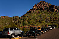 /images/133/2008-03-03-squaw-2382.jpg - #04897: View of parking lot at Squaw Peak Mountain in Phoenix … March 2008 -- Squaw Peak, Phoenix, Arizona
