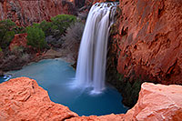 /images/133/2008-03-23-hav-havasu-5623.jpg - #04953: Havasu Falls - 120 ft drop (37 meters) … March 2008 -- Havasu Falls!, Havasu Falls, Arizona