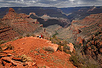 /images/133/2008-03-30-gc-ba-6744.jpg - #04960: People with a view of Bright Angel Plateau Trail in Grand Canyon … March 2008 -- Bright Angel Trail, Grand Canyon, Arizona