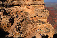/images/133/2008-03-31-gc-sk-view-7087.jpg - #05070: People heading down from top of South Kaibab Trail in Grand Canyon … March 2008 -- South Kaibab Trail, Grand Canyon, Arizona
