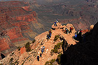/images/133/2008-03-31-gc-sk-view-7242.jpg - #05073: People at Ooh-Aah Point along South Kaibab Trail in Grand Canyon … March 2008 -- South Kaibab Trail, Grand Canyon, Arizona
