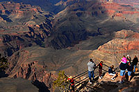 /images/133/2008-04-02-gc-yav-8967.jpg - #05129: Girl in pink on dad`s shoulders and people enjoying views from Yavapai Point in Grand Canyon … April 2008 -- Yavapai Point, Grand Canyon, Arizona