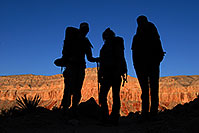 /images/133/2008-04-04-hav-eric-9564.jpg - #05060: Hikers along Havasupai Trail at 8 am … April 2008 -- Havasupai Trail, Havasu Falls, Arizona