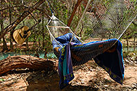 /images/133/2008-04-05-hav-camp-0732.jpg - #05140: Hammock and Guitar at Supai Campground … April 2008 -- Supai Campground, Havasu Falls, Arizona