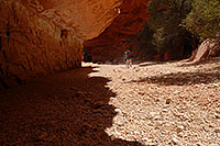 /images/133/2008-04-06-hav-can-1269.jpg - #05156: Hikers along Havasupai Trail, in flash flood area of Havasu Canyon … April 2008 -- Havasupai Trail, Havasu Falls, Arizona