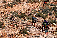 /images/133/2008-04-06-hav-can-br-1490.jpg - #05163: Hikers along Havasupai Trail near Hualapai Hilltop, in the last mile of uphill and switchbacks … April 2008 -- Havasupai Trail, Havasu Falls, Arizona