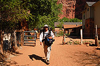 /images/133/2008-04-06-hav-supai-me1179.jpg - 05144: Me leaving Supai and heading for Hualapai Hilltop - with 2 backpacks and a tripod … April 2008 -- Supai, Havasu Falls, Arizona
