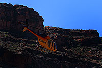 /images/133/2008-04-22-hav-heli-4798.jpg - #05321: Grand Canyon Tours helicopter leaving Supai … April 2008 -- Supai, Havasu Falls, Arizona