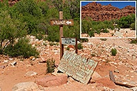 /images/133/2008-05-16-hav-supai-si7639.jpg - #05405: Sign 2 miles before Supai Village … May 2008 -- Supai, Havasu Falls, Arizona