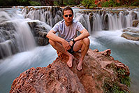 /images/133/2008-05-17-hav-creek-me7934.jpg - 05345: Me at second crossing of Havasu Creek from Mooney Falls to Beaver Falls … May 2008 -- Havasu Creek, Havasu Falls, Arizona