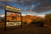 /images/133/2008-08-23-supers-museum-22288.jpg - #05849: Sunset at Lost Dutchman Museum in Superstitions … August 2008 -- Superstitions, Arizona