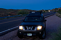 /images/133/2008-09-01-supers-xterra-23207.jpg - #05870: Xterra in Superstitions … September 2008 -- Apache Trail Road #2, Superstitions, Arizona