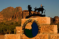 /images/133/2008-09-06-supers-sign-23941.jpg - #05857: Lost Dutchman and Donkey sign - Superstition Mountain  … September 2008 -- Apache Junction, Superstitions, Arizona