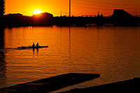 /images/133/2008-10-24-tempe-lake-38741.jpg - #05963: Scullers at sunset at North Bank Boat Ramp at Tempe Town Lake … October 2008 -- Tempe Town Lake, Tempe, Arizona
