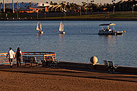 /images/133/2008-10-26-tempe-sailboats-39812.jpg - #05972: People and Kids Sailboats by North Bank Boat Landing at Tempe Town Lake … October 2008 -- Tempe Town Lake, Tempe, Arizona